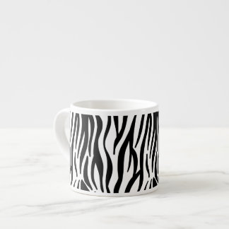 White and Black Zebra Pattern Espresso Mug