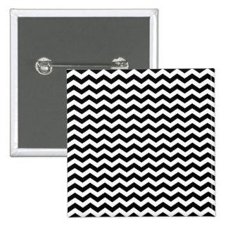 White and Black Zig Zag 15 Cm Square Badge