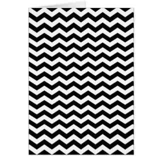 White and Black Zig Zag Greeting Cards