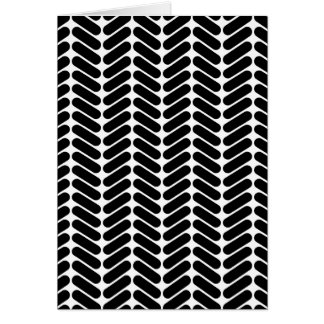 White and Black Zig Zag Pattern. Greeting Card