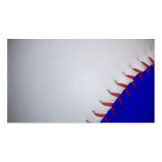 White and Blue Baseball Softball Business Card Templates