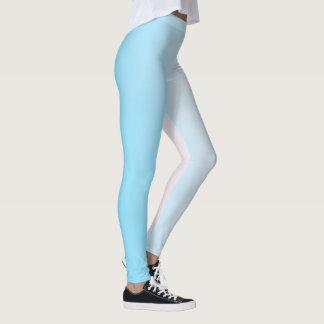 White and Blue Gradient Leggings