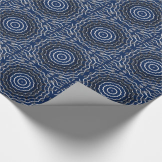 White and blue kaleidoscope tiled paper