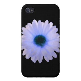 White and Blue Marigold  Case For iPhone 4
