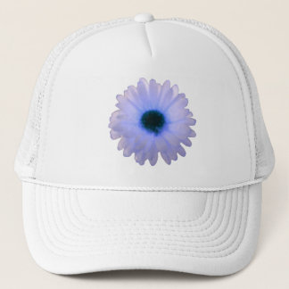 White and Blue Marigold Hat