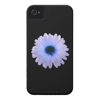 White and Blue Marigold iPhone 4 Case