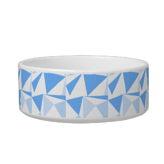 White and Blue Modern Geometric Pattern. Bowl