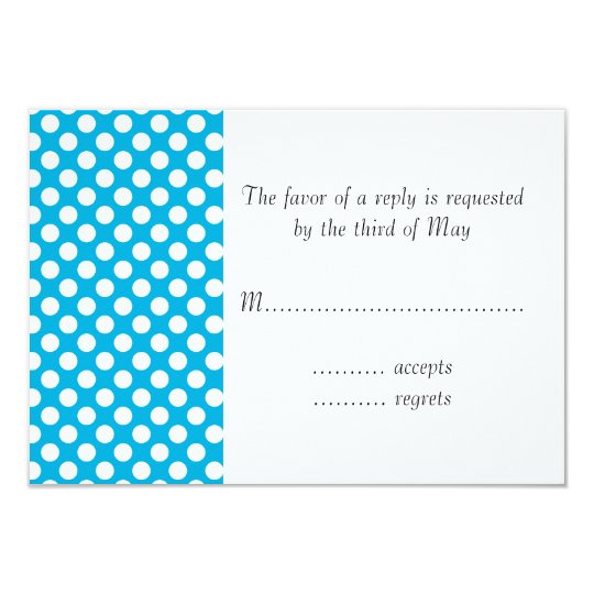 White and Blue Polka Dot Card