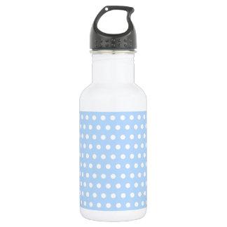White and Blue Polka Dot Pattern. Spotty. 532 Ml Water Bottle