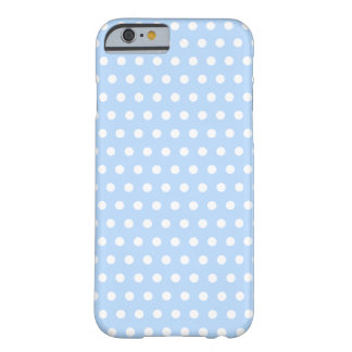 White and Blue Polka Dot Pattern. Spotty. Barely There iPhone 6 Case