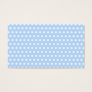White and Blue Polka Dot Pattern. Spotty. Business Card