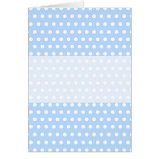 White and Blue Polka Dot Pattern. Spotty. Card