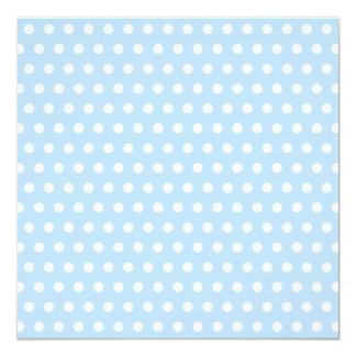 White and Blue Polka Dot Pattern. Spotty. Custom Announcement