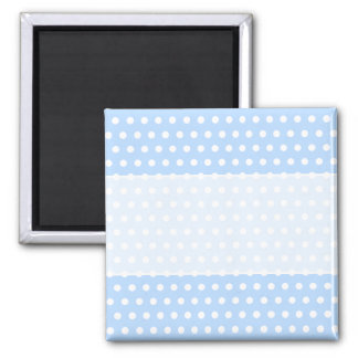 White and Blue Polka Dot Pattern Spotty Magnets