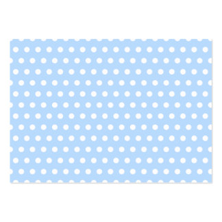 White and Blue Polka Dot Pattern. Spotty. Pack Of Chubby Business Cards
