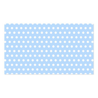 White and Blue Polka Dot Pattern. Spotty. Pack Of Standard Business Cards