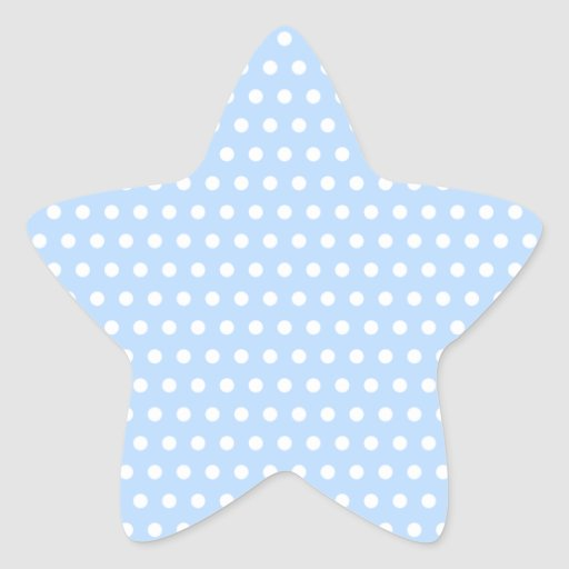 White and Blue Polka Dot Pattern. Spotty. Stickers