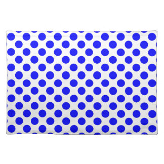 White and Blue Polka Dot Placemat