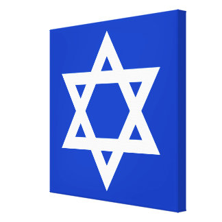 White and Blue Star of David Canvas Print