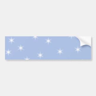 White and Blue Stars Design. Bumper Sticker