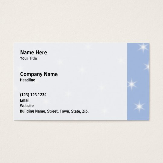 White and Blue Stars Design. Business Card