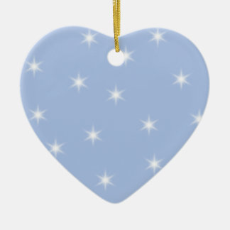White and Blue Stars Design. Christmas Ornament