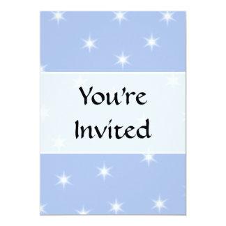 White and Blue Stars Design. Personalized Invitation