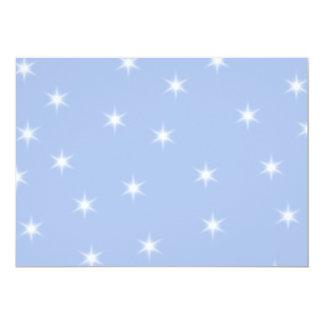 White and Blue Stars Design. Custom Invitation
