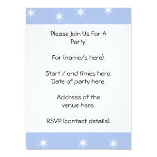 White and Blue Stars Design. Personalized Invites