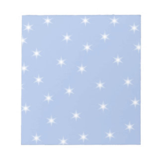 White and Blue Stars Design. Notepad