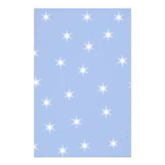 White and Blue Stars Design. Stationery