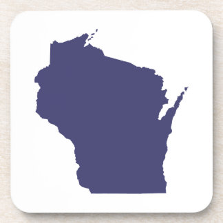 White and Blue Wisconsin Coaster