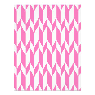 White and Bright Pink Abstract Graphic Pattern Flyer
