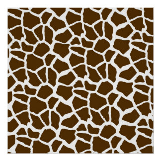 White and Brown Giraffe Animal Print