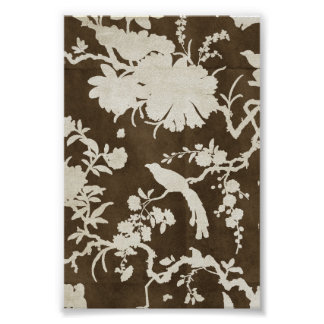 White and Brown Tree Branches Birds Print