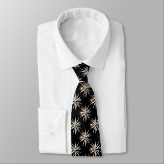 White and Broze fireworks pattern tie