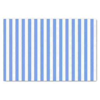 """White and Cornflower Blue Stripes 10"""" X 15"""" Tissue Paper"""