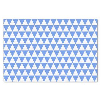"White and Cornflower Blue Triangles 10"" X 15"" Tissue Paper"