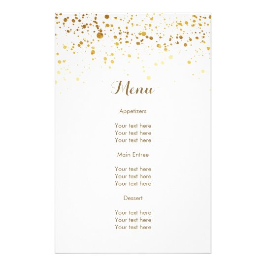 White and Faux Gold Glitter Flyer