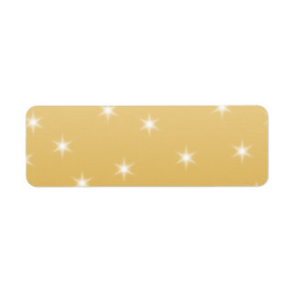White and Gold Color Star Pattern