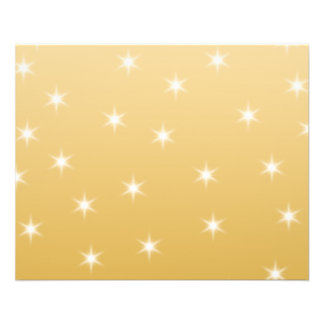 White and Gold Color Star Pattern 11.5 Cm X 14 Cm Flyer