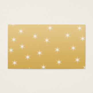 White and Gold Color Star Pattern Business Card