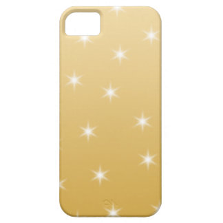White and Gold Color Star Pattern Case For The iPhone 5