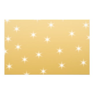 White and Gold Color Star Pattern Flyer
