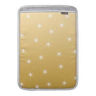 White and Gold Color Star Pattern MacBook Sleeve