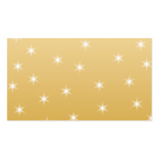 White and Gold Color Star Pattern Pack Of Standard Business Cards