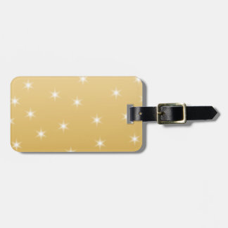 White and Gold Color Star Pattern Tag For Luggage