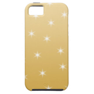 White and Gold Color Star Pattern Tough iPhone 5 Case