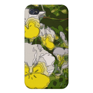 White and Gold Daffodil Flowers iPhone 4 Cover