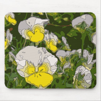 White and Gold Daffodil Flowers Mouse Pads